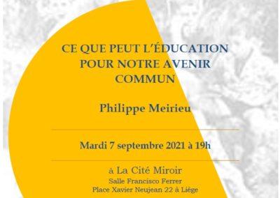 Conférence Meirieu 7 septembre 2021